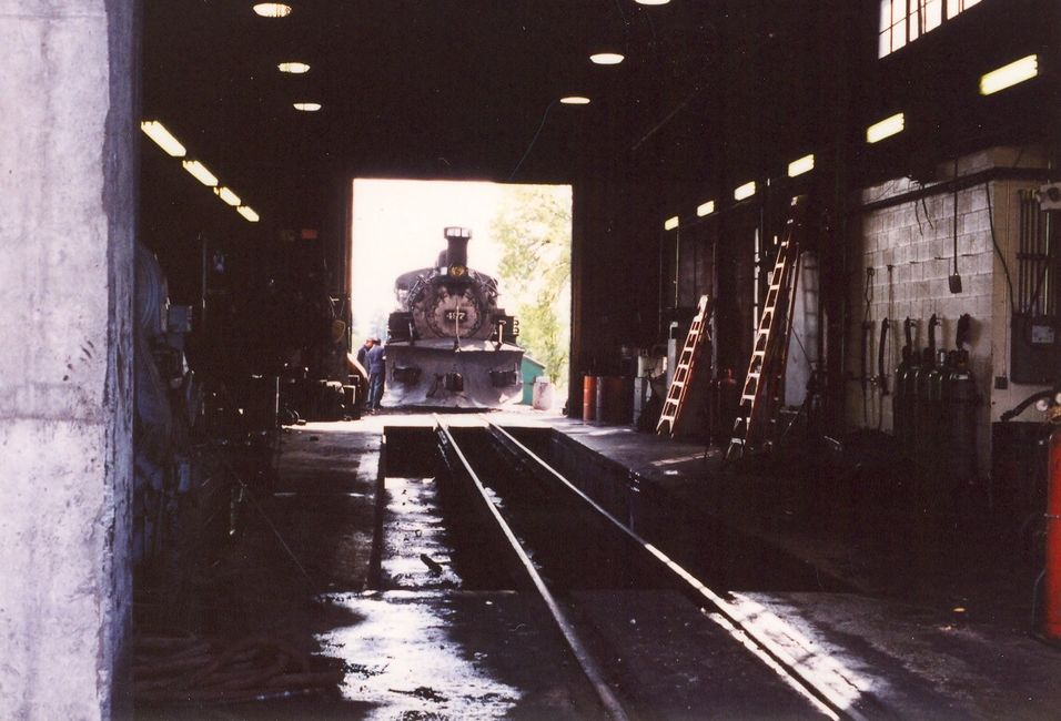 D&RGW K-36 #487,heding into the Chama workshop.
