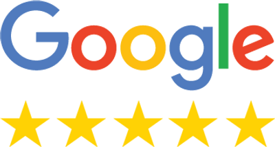 picture showing google's logo and 5 gold stars
