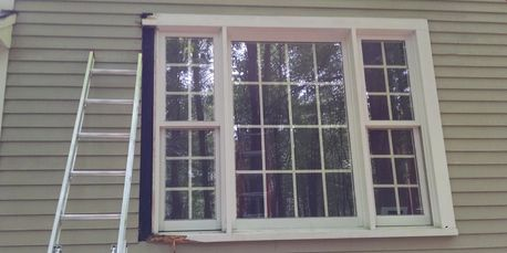 Replacing rotted window trim casing and sill