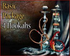 4 Premium Bliss Egyptian Hookahs