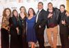 (L to R) Suzana Norberg, CD and presenter D. Candis Paule; actors Laura Bohlin, Carla Nell, Daren Scott, Jonathan Hammond, and Jon Maxwell.