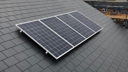 New Slate Tile Roof & Solar PV install for one of our satisfied clients in Leicestershire.