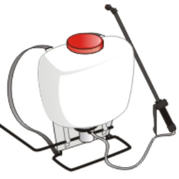 Back pack pressure sprayer with spray wand