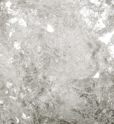 Close up of clear Diamond Dust