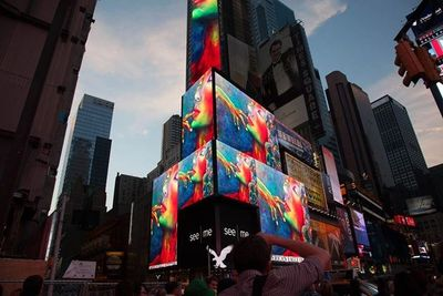 My work displayed on the W Hotel in Times Square, NY