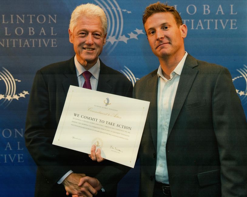 President Clinton and Jason Spindler