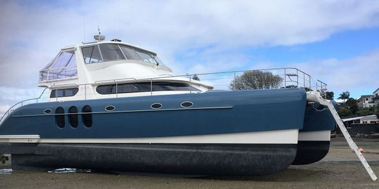 An all new 52 ft. Catamaran is currently in production and available for delivery in August.