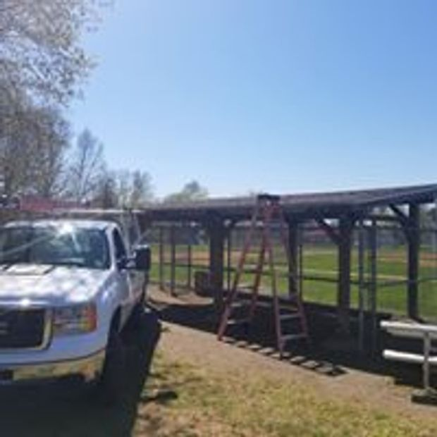 Dugout roofs repaired / replaced