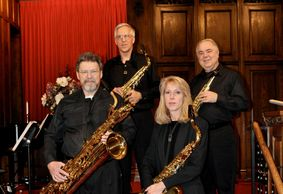 Here is a picture of the Three Rivers Saxophone Quartet in 2011.