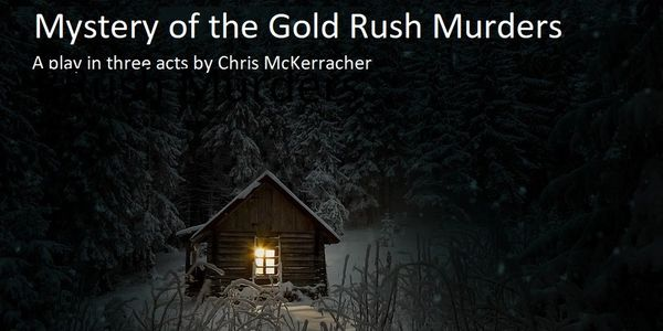 A creepy looking house is the setting for Mystery of the Gold Rush Murders