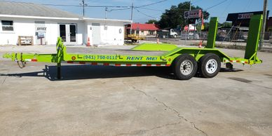 Equipment trailer and carhauler trailer for rent.