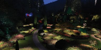 Night illuminations Butchart Gardens