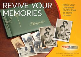 Old Photos being restored and revived by a Photo Album, Surrey Photo Restoration by Kodak Caterham Digital
