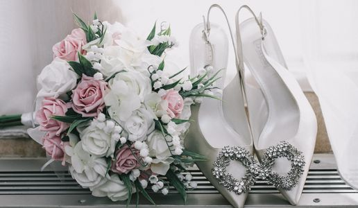 Bridal Bouquet and Wedding Shoes Wedding Photography, Wedding Photographers, Surrey Wedding Photographer, Surrey Wedding Photographs