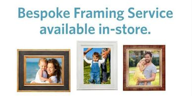 Variety of Photo Frames, Bespoke Faming Service available in store, Caterham Digital
