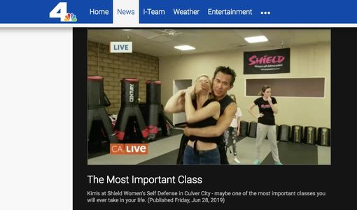 NBC CA Live visited SHIELD Women's Self Defense studio to feature some of our students.