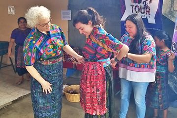 GUATE 4 YOU textile community experience visit in San Antonio Aguas Calientes Guatemala