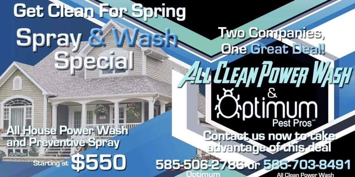 pest control - power washing - deal - save money