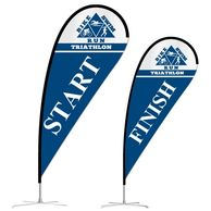 Flag banners are a great way to get a visual presence and are quite inexpensive