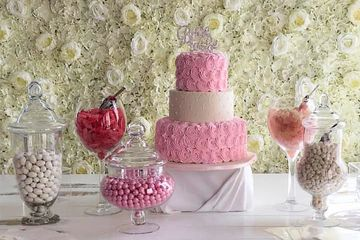 Candy bar for all events with flower wall