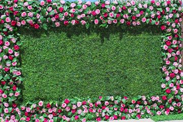 Pink Garden Combo is a mix of pink roses and grass backdrop