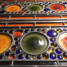 Series of Custom Stained Glass Transoms for  MANHATTAN PENTHOUSE ON 5TH