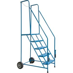 Walk Thru Mobile Ladders to enter the back of transport Trailers