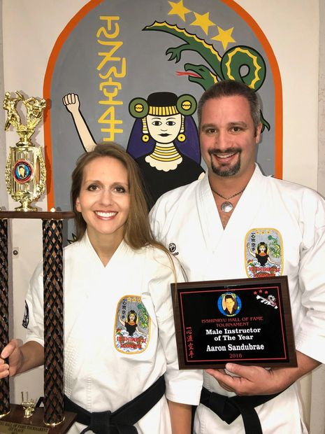 "Aaron Sandubrae, Shihan Isshinryu Hall of Fame ""Male Instructor of The Year"" 2018"