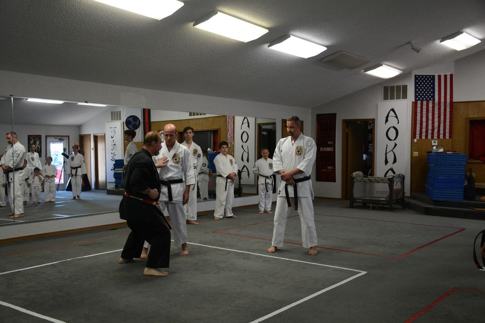 Master Hansen Visiting the Sandubrae Isshinryu Dojo in Oklahoma.