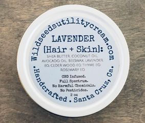 Lavender Hair and Skin Utility cream. Wild seeds utility cream
