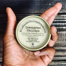 Healing salves... our best seller, Lemongrass Utility Cream.