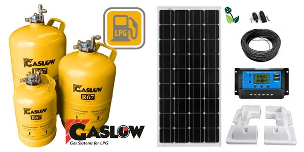 Solar panel fitter gaslow refillable LPG gas cylinders installer motorhome caravan parts accessories