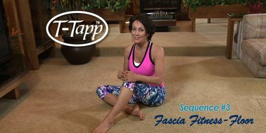 Teresa Tapp leads a workout for Fascia Fitness on the Floor. T-Tapp the workout that works.