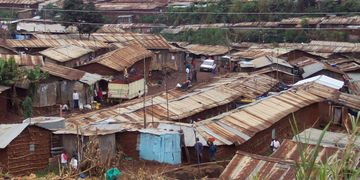 Slum roofs - tiny tin houses