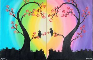 Couples, valentines day, Painting, Discount, Love, Fun, Excitement, Paint nite, acrylics