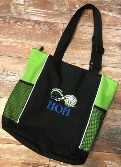 """Mom"" Bag I can also change Mom to a name if wanted and add player number.  17.5 wide 14.5 tall $30"