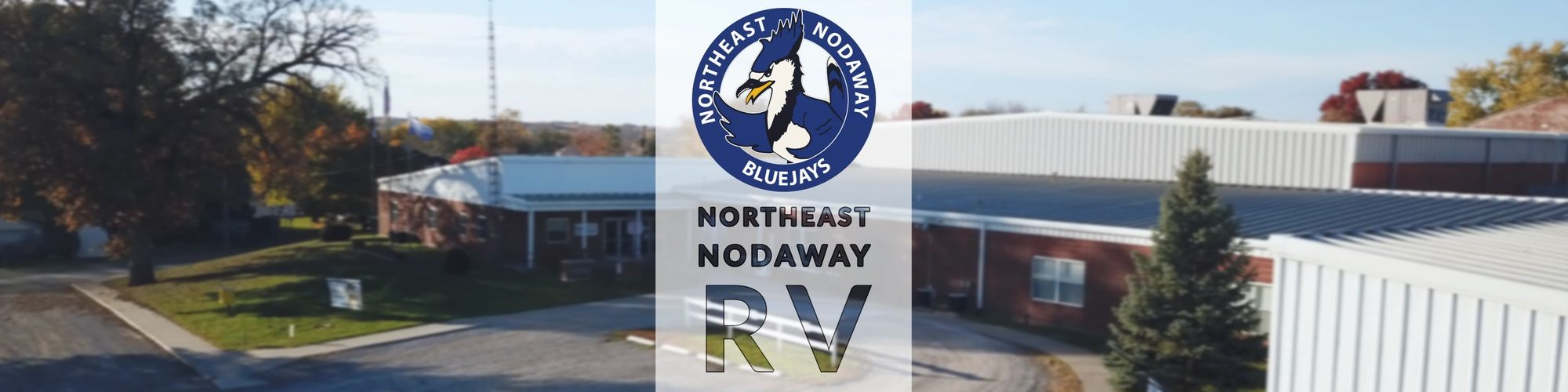 Northeast Nodaway School District Building and Logo.