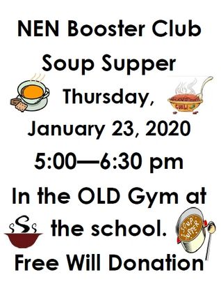 Booster Club Soup Supper Details
