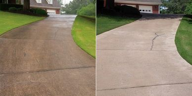 Pressure Washing driveways in Montgomery AL.