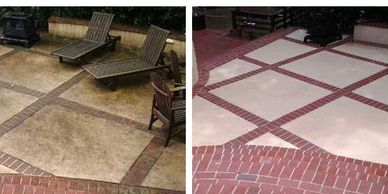 Pressure Washing Patios and porches in Montgomery AL.