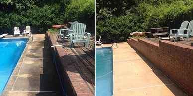 Pressure Washing Pool Decks in Montgomery AL.