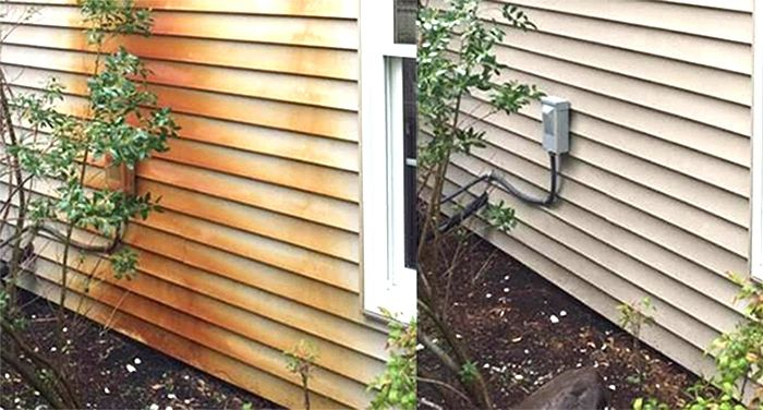 Rust Stain Removal from house siding Alabama