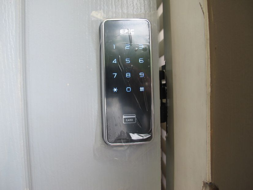 Digital Door Lock for Sliding Doors from Epic Korea Model Touch Hook Type