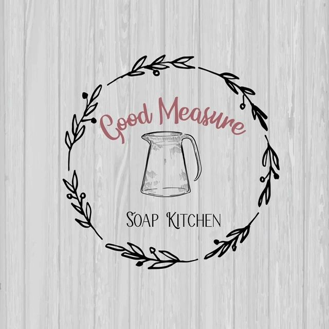 Good Measure Soap Kitchen Logo with wreath and pitcher