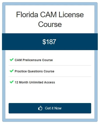 CAM Prelicensure Course, Practice Questions, Exam Prep, 12 Month Unlimited Access.  Best CAM Course