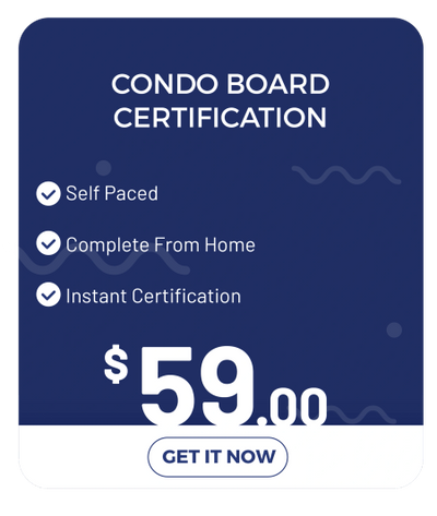 AACC ONLINE CONDO BOARD MEMBER CERTIFICATION COURSE