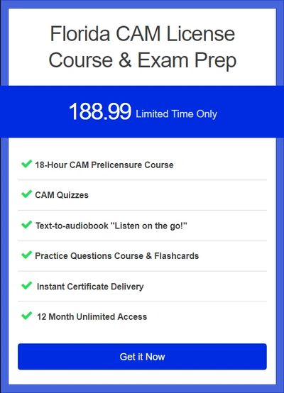 Florida's Premier Online CAM Course And Practice Exam | Everything Included