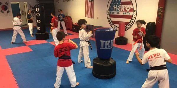 Kids participating in martial arts classes in Palmetto Bay - Cutler Bay - Miami
