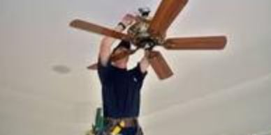 $95 standard 7.5'- 8'ceiling Install or remove ceiling fan from bedrooms or living rooms.