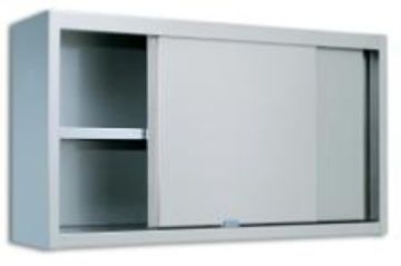 SS Cabinet,  Wall Mounted Cabinets with Middle Shelf and Sliding Door